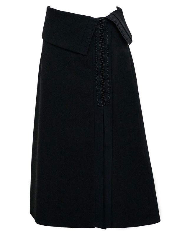 Dion Lee Tailored Coil Skirt in Black