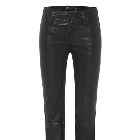 Selena Leather Mid-Rise Crop Bootcut