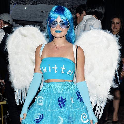 Lucy Hale Twitter Halloween Costume