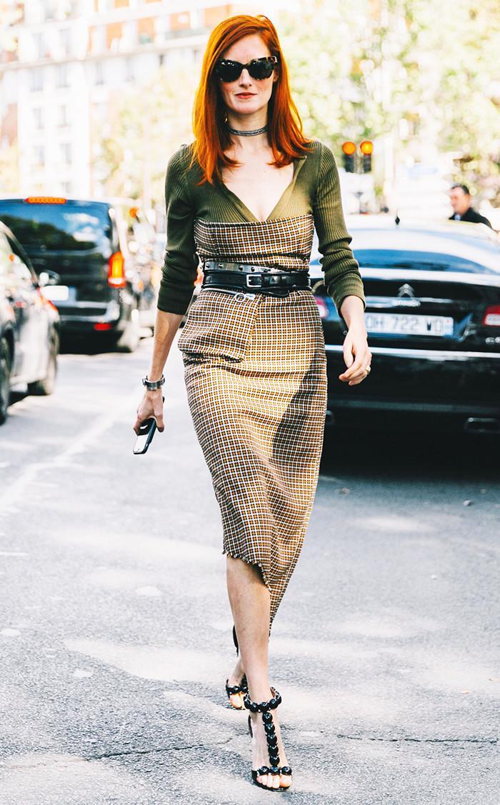 sweater-styling-plaid-dress