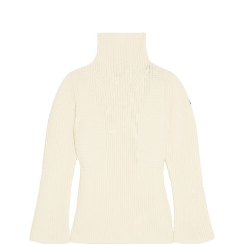 Maglione Ribbed Wool Turtleneck Sweater