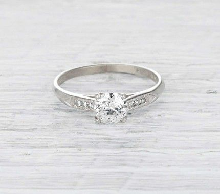 Erstwhile 0.53-Carat Art Deco Engagement Ring