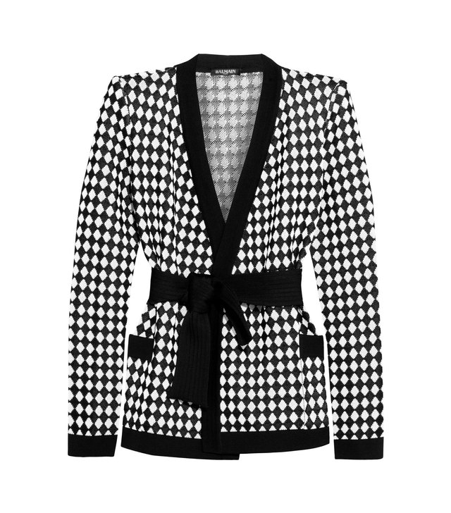 Balmain Intarsia knitted jacket