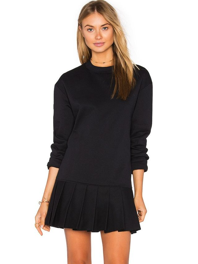 Twenty Pride Pleated Sweater Dress