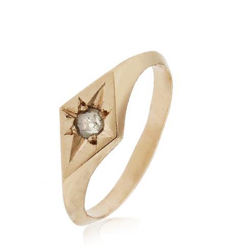Rose Gold Grey Diamond Ring