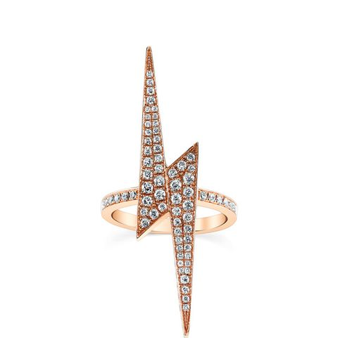 Diamond Lightening Bolt Ring