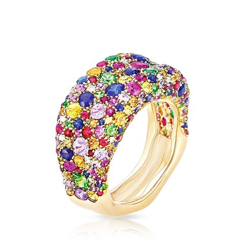 Emotion Multi-Coloured Thin Ring