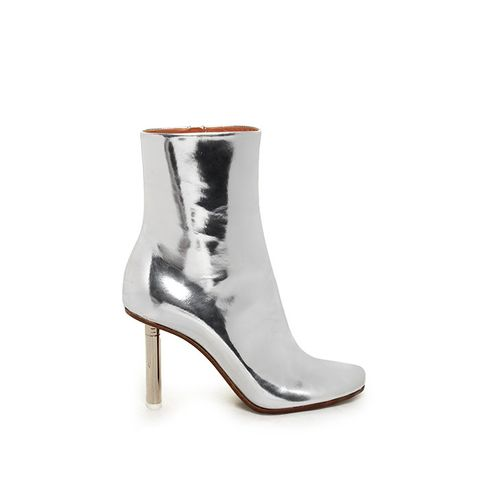 Toe-Detail Leather Ankle Boots