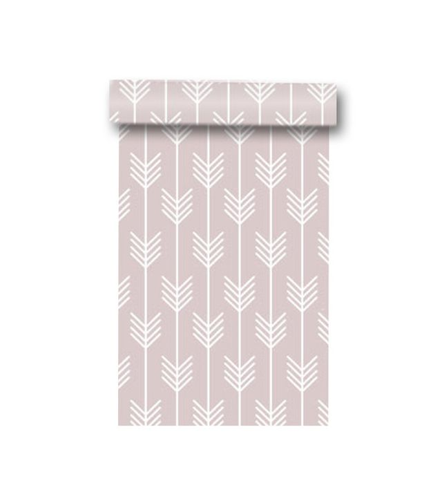 WallPlays Pink Arrows Removable Wallpaper