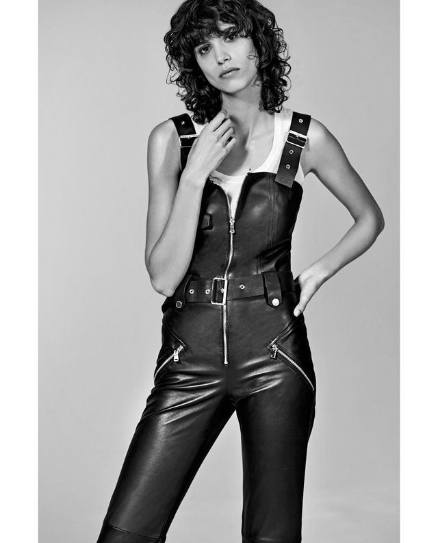 Zara Short Leather Studio Jumpsuit
