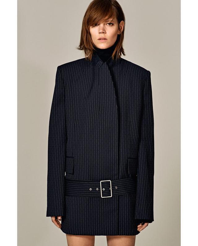 Zara Pinstripe Studio Coat