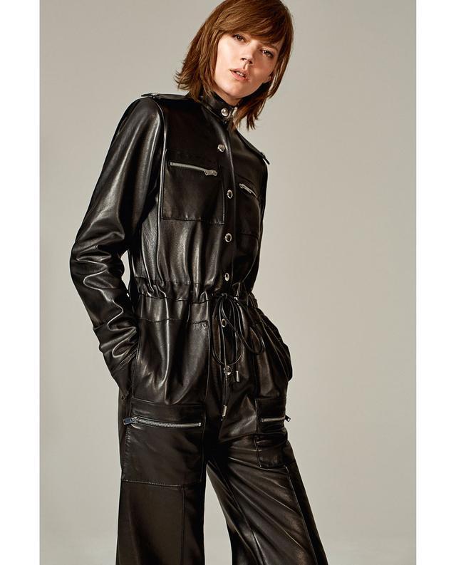 Zara Long Leather Studio Jumpsuit