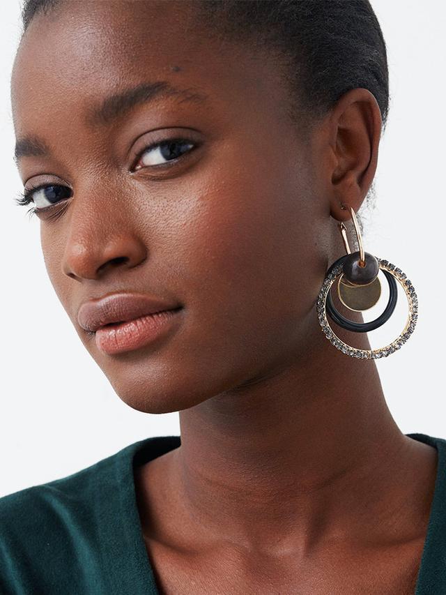 Mango Mixed Pendant Earrings
