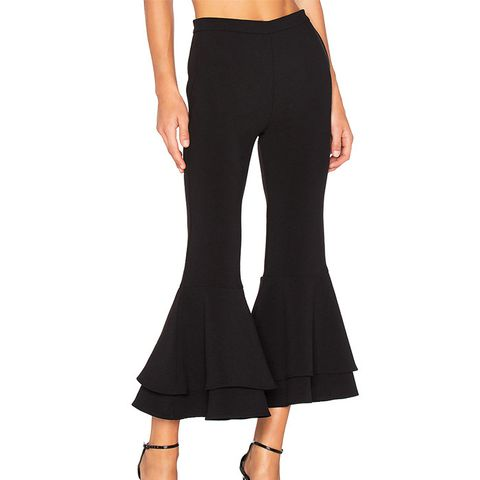 Supafly Crop Double Ruffle Pant