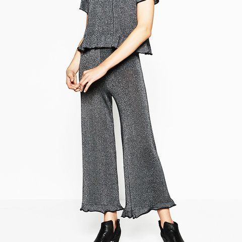 Frilled Shiny Trousers