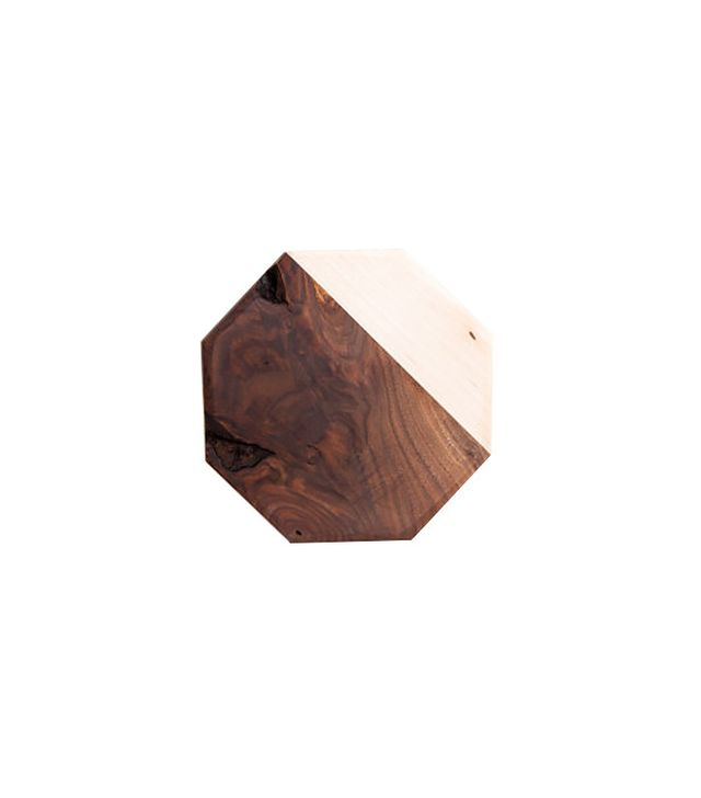 Sarah Shermen Samuel Walnut & Maple Octagon Cutting Board