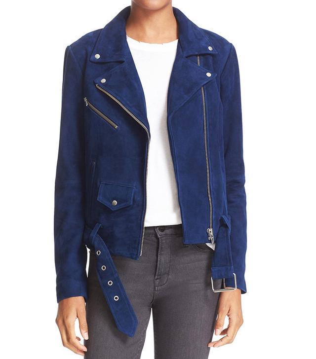 Veda Jayne Suede Moto Jacket
