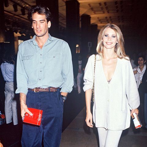 Claudia Schiffer street style in the '90s