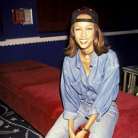 Tyra Banks street style in the '90s
