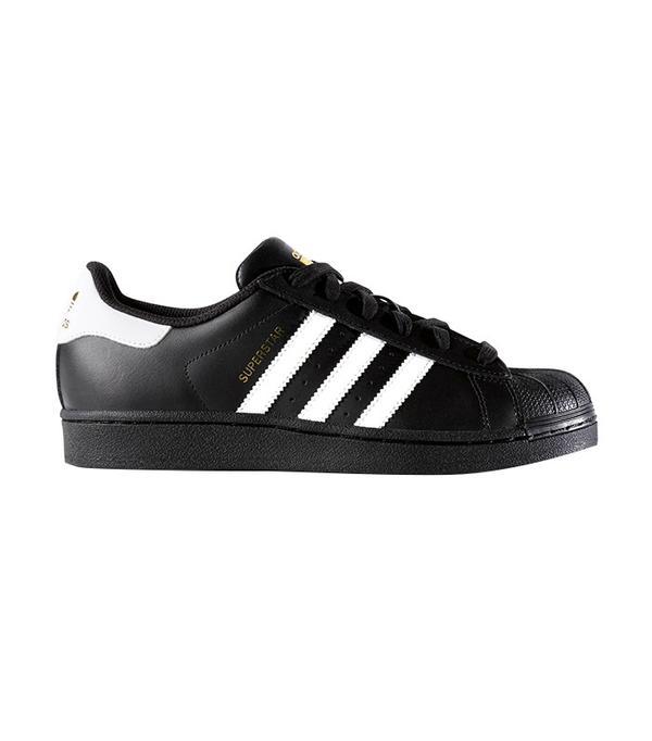 Adidas Originals Black and White Superstar Trainers