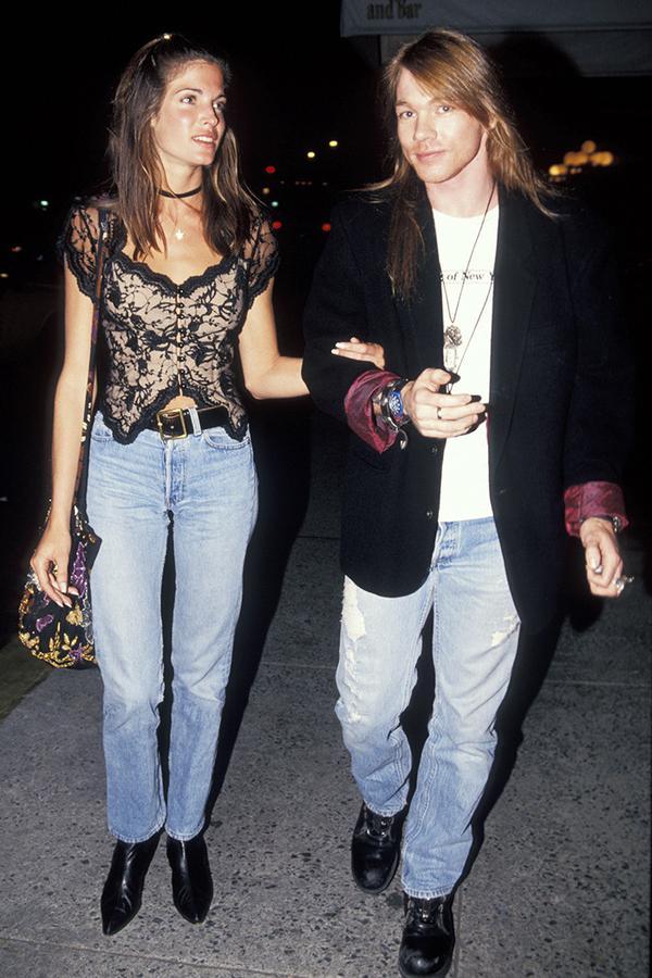 Stephanie Seymour street style in the '90s
