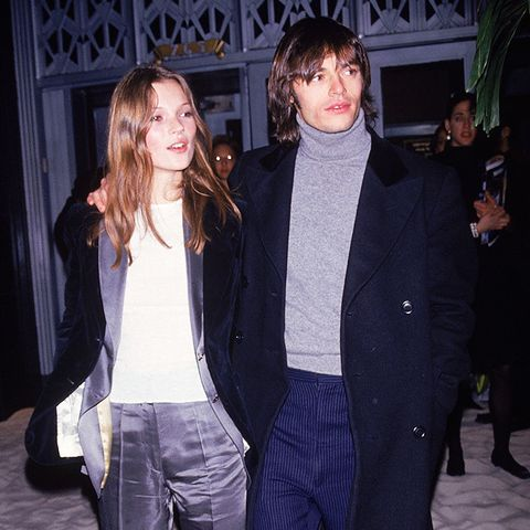 Kate Moss street style in the '90s