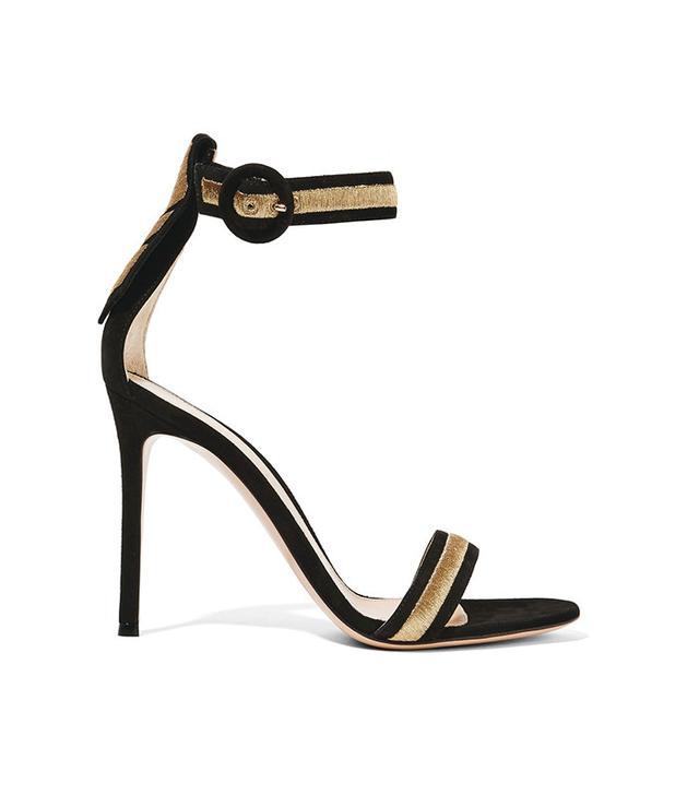 Gianvito Rossi Portofino Metallic Sandals