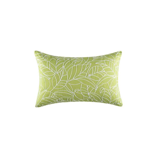 KAS Fauna Rectangle Green Cushion