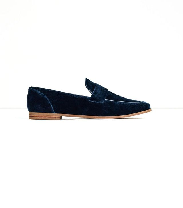Zara Velvet Loafers