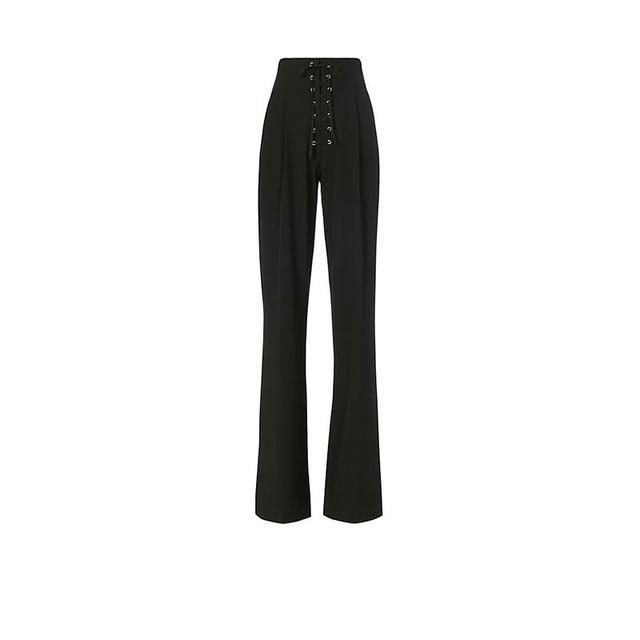 A.L.C. Estrada Lace-Up Black Trousers
