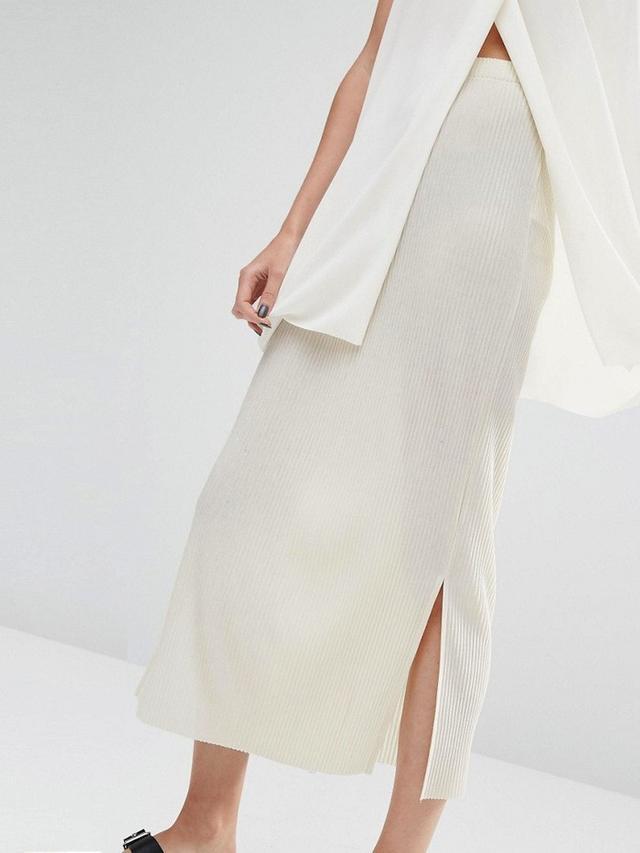 Selected Keba Stretch Pleat Maxi Skirt