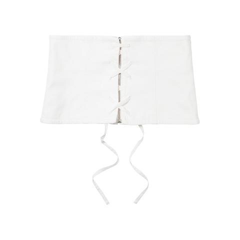 Lace-Up Denim Waist Belt