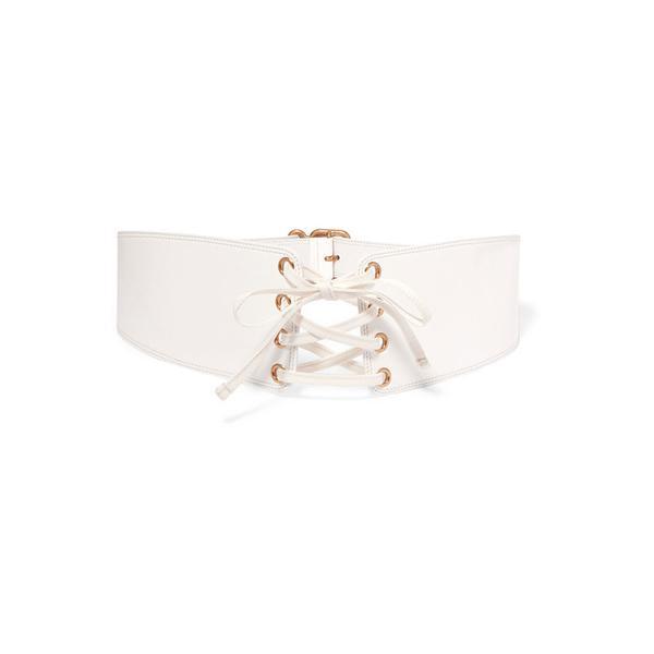 Prada Lace-Up Patent Leather Waist Belt