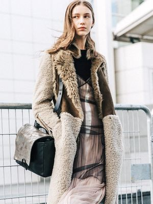 Get a Jump Start on Cold Weather With a Cozy Shearling Coat