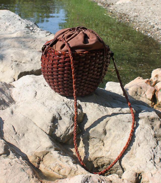 Vintage Braided Leather Shoulder Bag