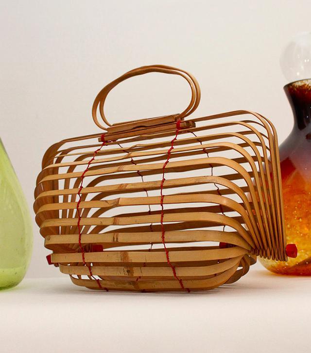 Vintage '60s Bamboo Accordion Bag