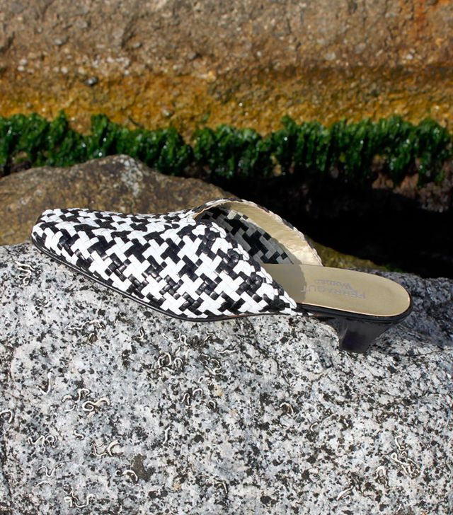 Vintage Black and White Balearic Mules
