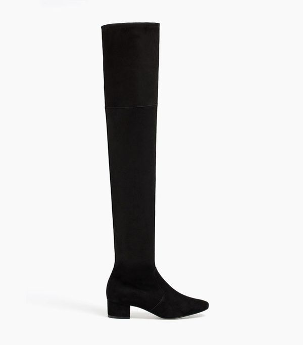 Uterque over-the-knee stretch boots