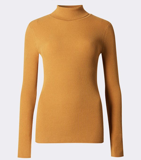 M&S Ribbed Polo Neck Jumper