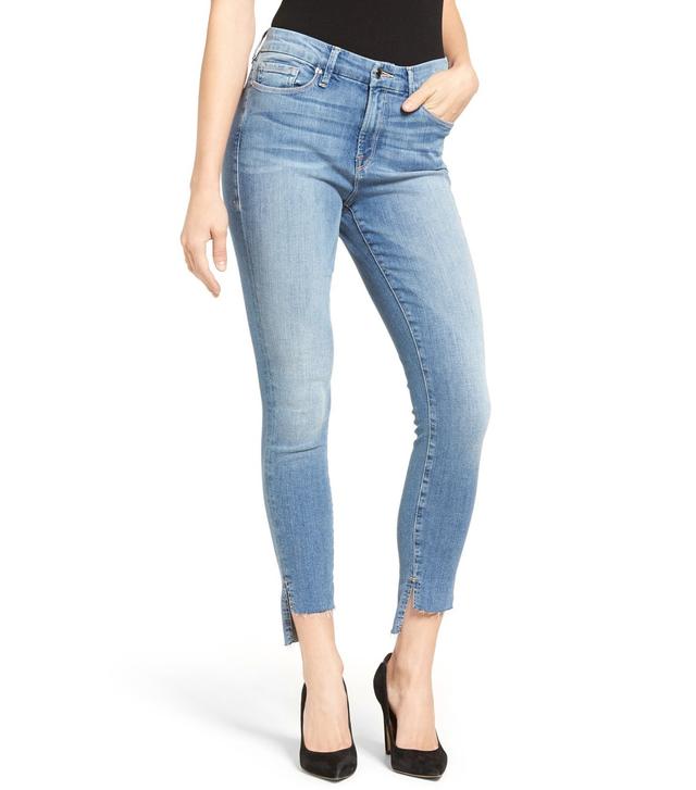 Good American Good Legs Raw Step Hem Skinny Jeans