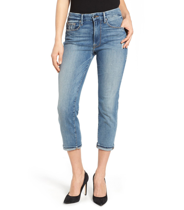 Good American Good Cuts High Rise Boyfriend Jeans