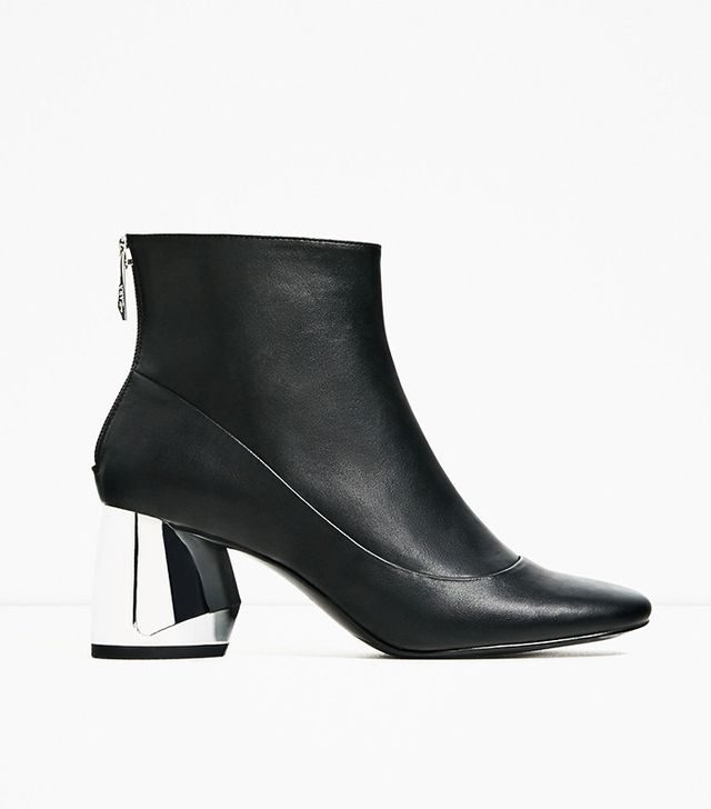 Zara Ankle Boots With Metal Heels