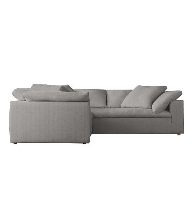 Restoration Hardware Slipcovered Sectional Sofa