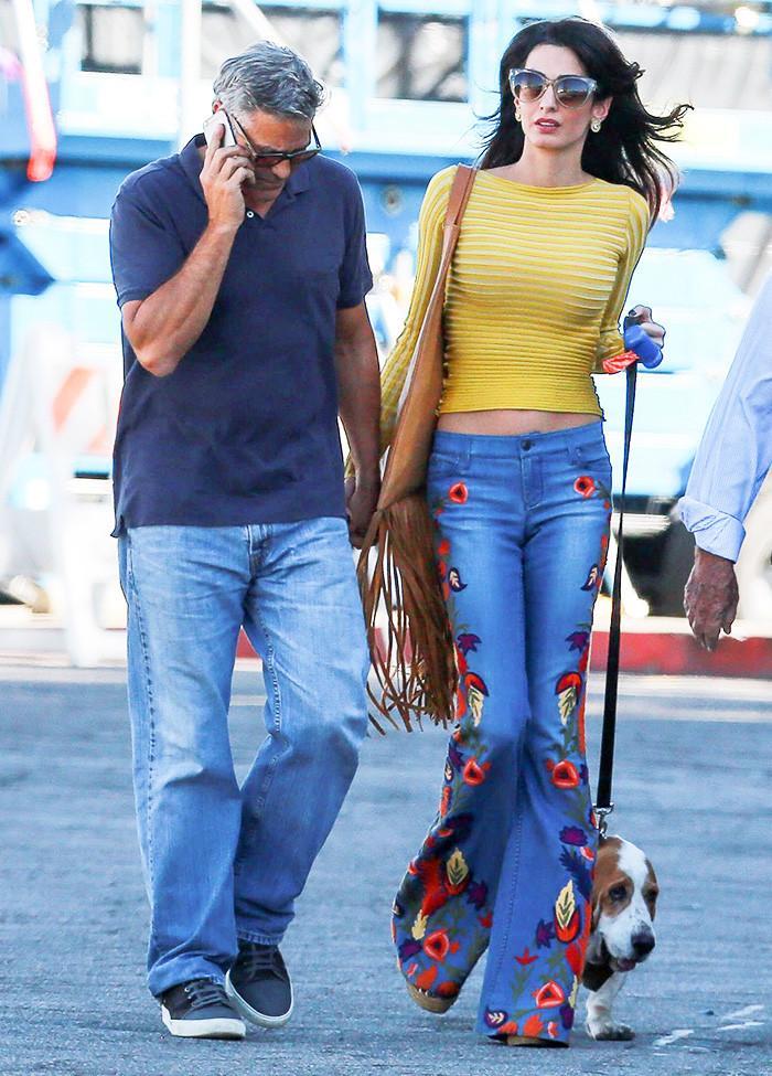 amal clooney jeans