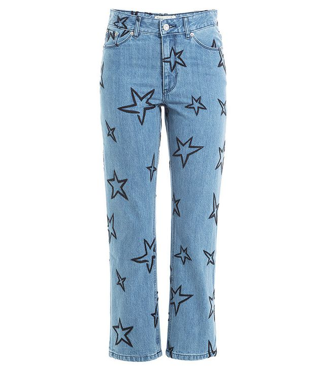 Être Cécile Star Embroidered Cropped Jeans