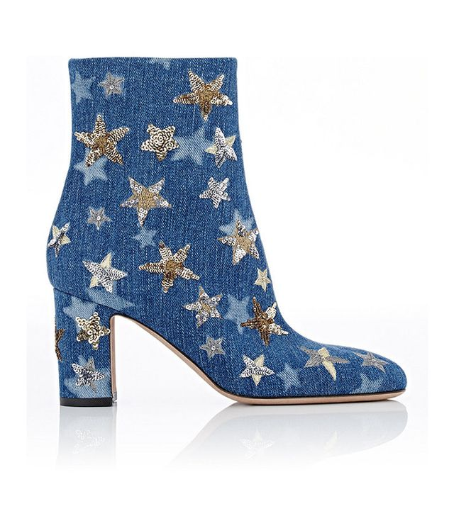 Valentino Embellished Ankle Boots