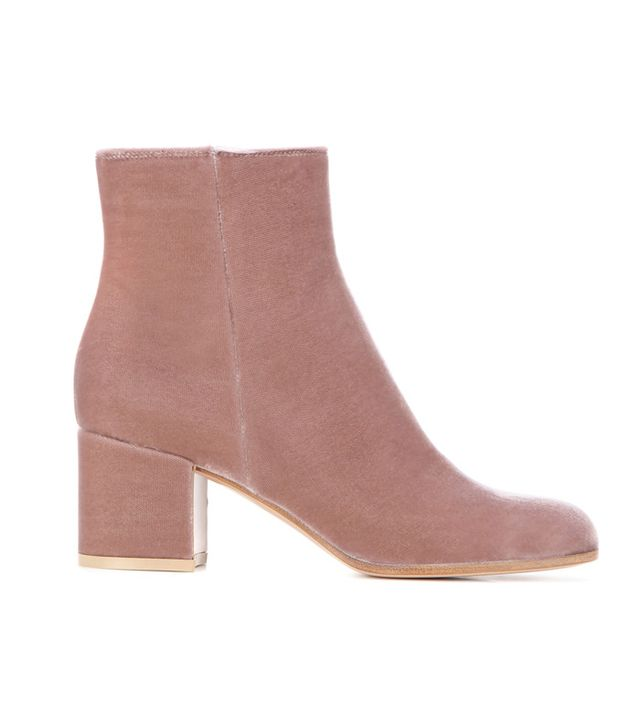Gianvito Rossi Margaux Velvet Ankle Boots