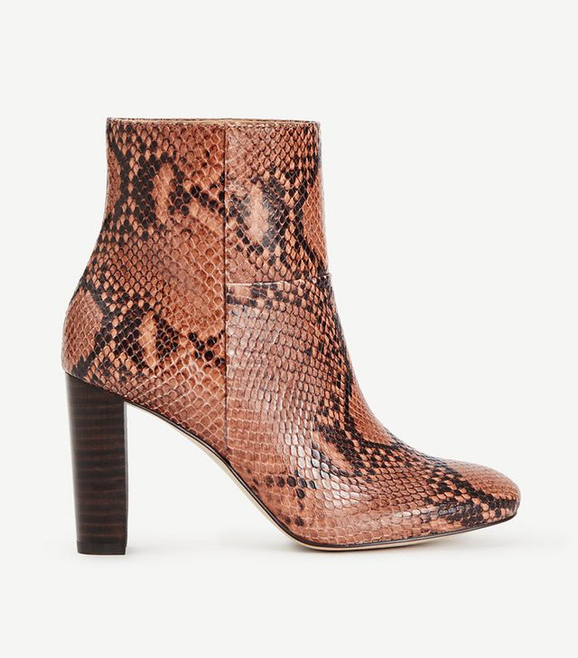 Ann Taylor Tallulah Exotic Embossed Leather Booties
