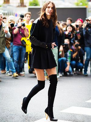 The Best Miniskirts to Wear With Over-the-Knee Boots