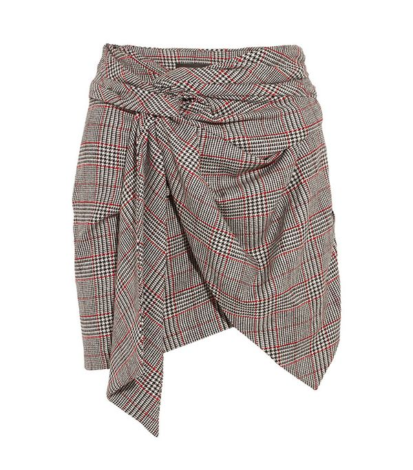 Kim Wrap-Effect Tweed Mini Skirt by Isabel Marant